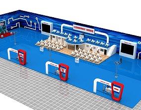 3D model Huge Exhibition Stand 21