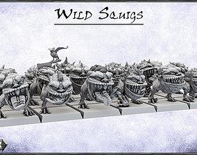 Wild Orc Squigs Herd -UNIT- 28mm Miniatures 3D print model