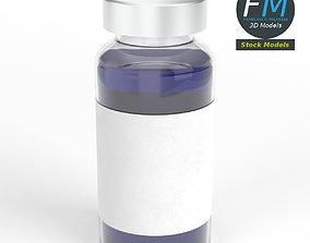3D Glass ampoule with aluminium cap