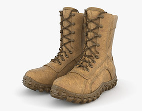 3D model shoes Military Boots