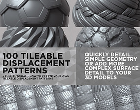 3D 100 Tileable Displacement And Alpha Patterns - COMPLETE