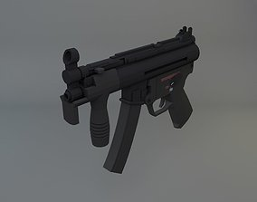 3D model low-poly Heckler and Koch MP5K