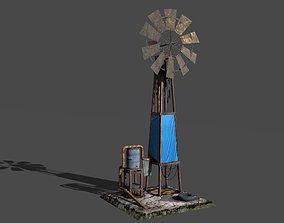 3D asset Shanty windmill