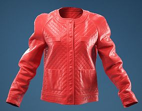 0083a04d29702 Black Padded Leather Jacket 3D model | CGTrader