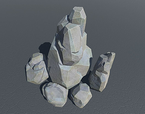 Faceted rocks for Unity3D low-poly