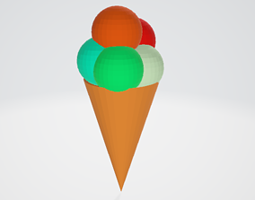 Polygon Icream 3D model