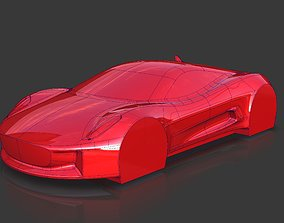 Jaguar CX-75 James Bond 007 Car Concept Speedform 3D