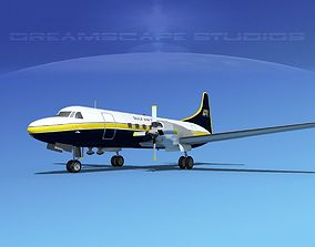3D model Convair CV-580 Gulf Air Transport