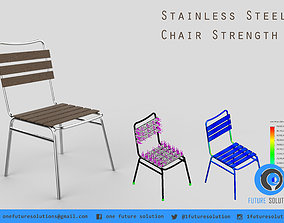 Stainless Steel Chair Strength 3D
