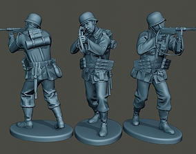3D printable model German soldier ww2 Shoot Stand G2