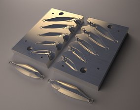Metal jig Mold Model 01 fishing
