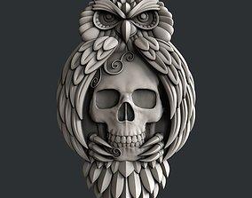 owl skull 3D model