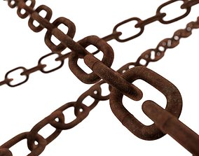 Old chain 3D asset