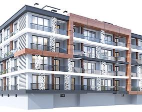 Modern Residential Building 3D