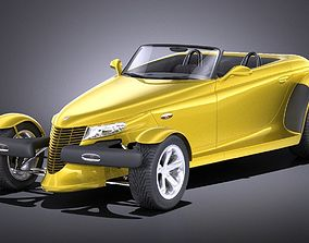 Plymouth Prowler stock 1997-2002 VRAY 3D model