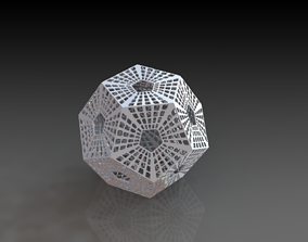 Scifi Dodecahedron 3D Printed