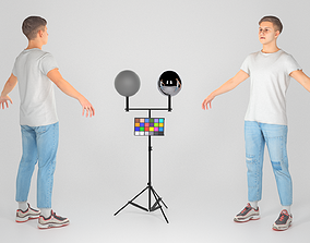 Stylish young man in a A-pose 114 3D asset