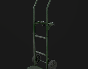 3D model game-ready Hand Truck