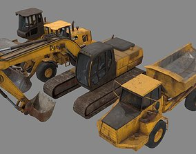 Construction Vehicle pack 3D model