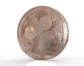 Ripple XRP coins metal 3D printable model