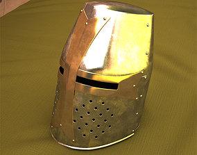 bucket 3D model Crusader Helmet