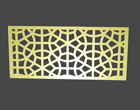 game-ready Decoration grid for CNC Low-poly 3D model