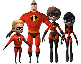 Mr Incredible family 3D model