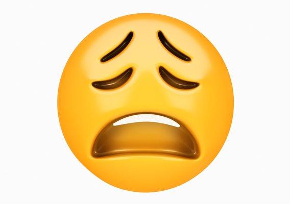 Emoji Weary Face 3D model