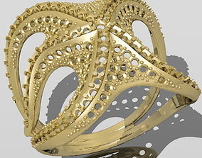 3D printable model octopus ring