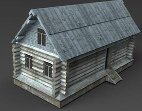 3D model Wooden Buildings