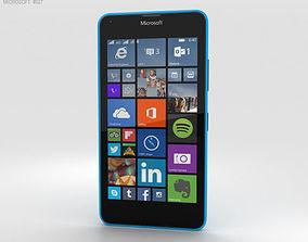 3D model Microsoft Lumia 640 LTE Glossy Cyan