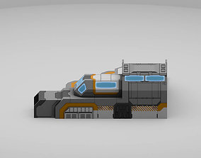 Sci-Fi Military Building - Outpost 3D model