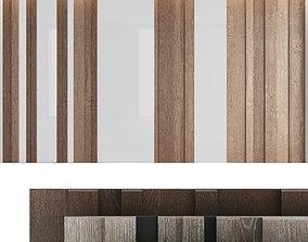 Decorative wall panel set 8 3D model