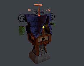 Bird House 3D model realtime