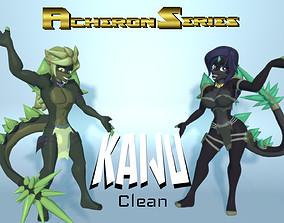 3D asset Acheron Kaiju Clean