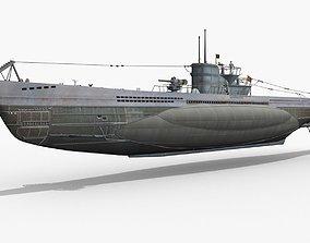 German U-BOAT Type VII 3D model