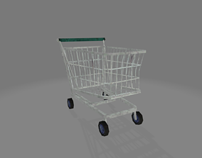 3D model low-poly Shopping cart