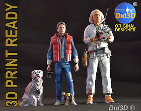 3D print model Doc Marty Einstein Pack 1-8 Scale