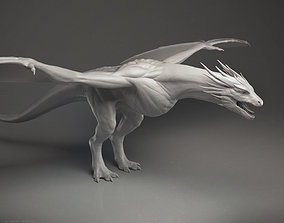 3D Dragon Wyvern - Highpoly Sculpture