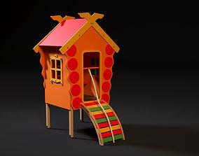 3D model Game house on legs children