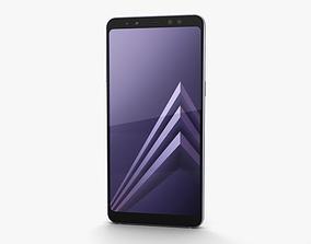 dual Samsung Galaxy A8 2018 Orchid Grey 3D model