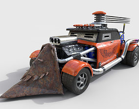 Post-Apocalyptic Car 3D model PBR