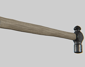 3D model Hammer ball pein forged