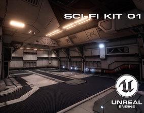 3D model Sci-Fi Environment Kit 01