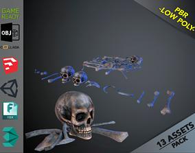 3D asset Skulls1 Alien Bones
