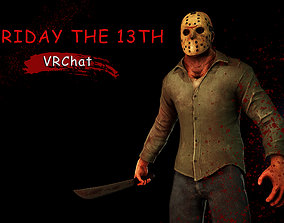 3D model animated Friday the 13th Jason vrchat