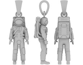 Astronaut pendant 3D print model