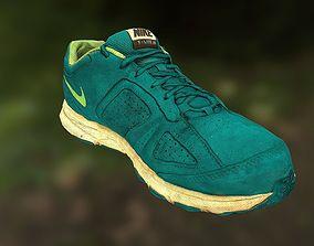 Worn Nike shoe low poly 3D model low-poly