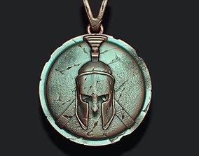 3D print model Spartan Helmet Shield pendant