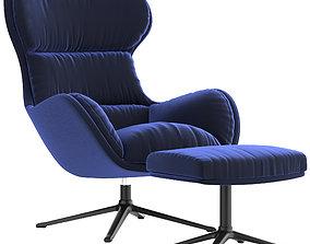 Boconcept - Reno chair Reno footstool 3D